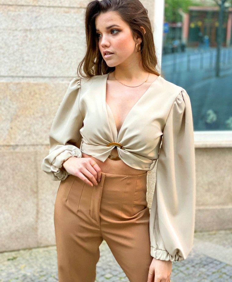 TOP CROPPED RUBY BEIGE