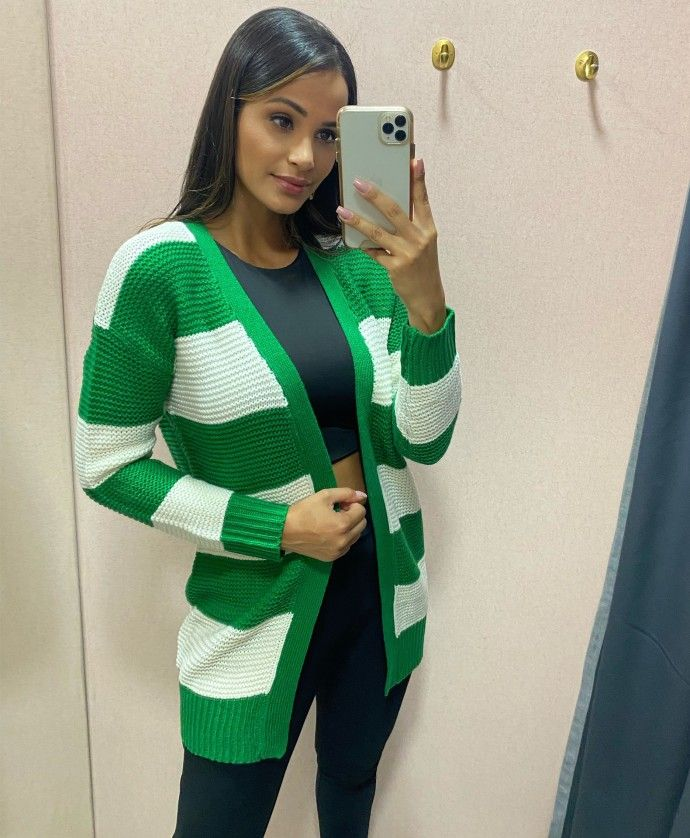 HILLARY GREEN KNITTED JACKET