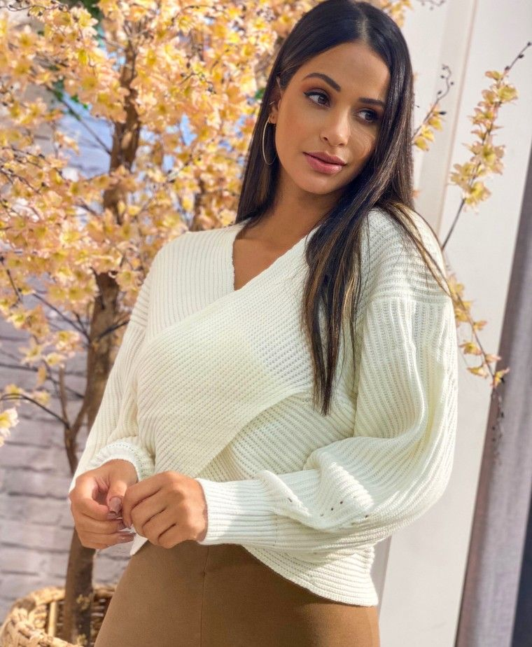NAPOLI WHITE KNITTED SWEATER