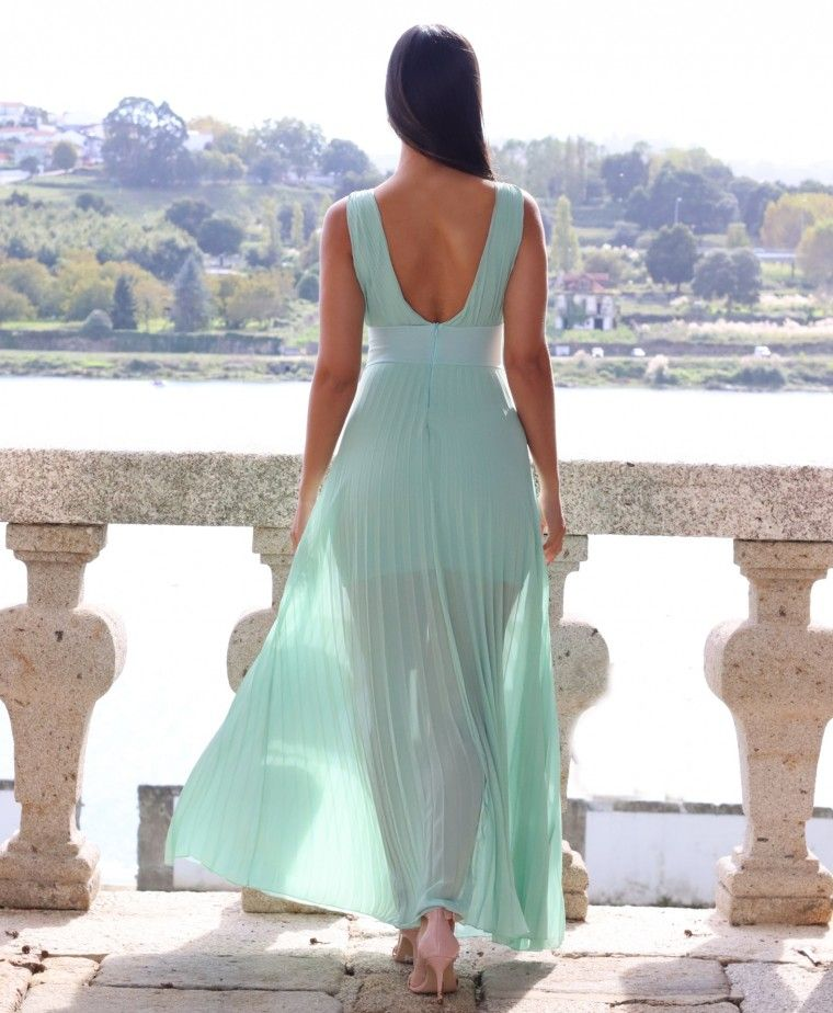 GREEN FLORENCE CEREMONY DRESS