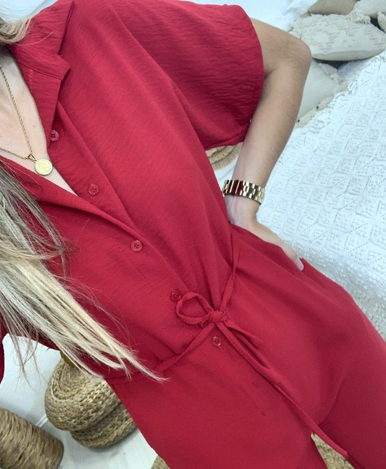 BRISBANE RED OVERALL