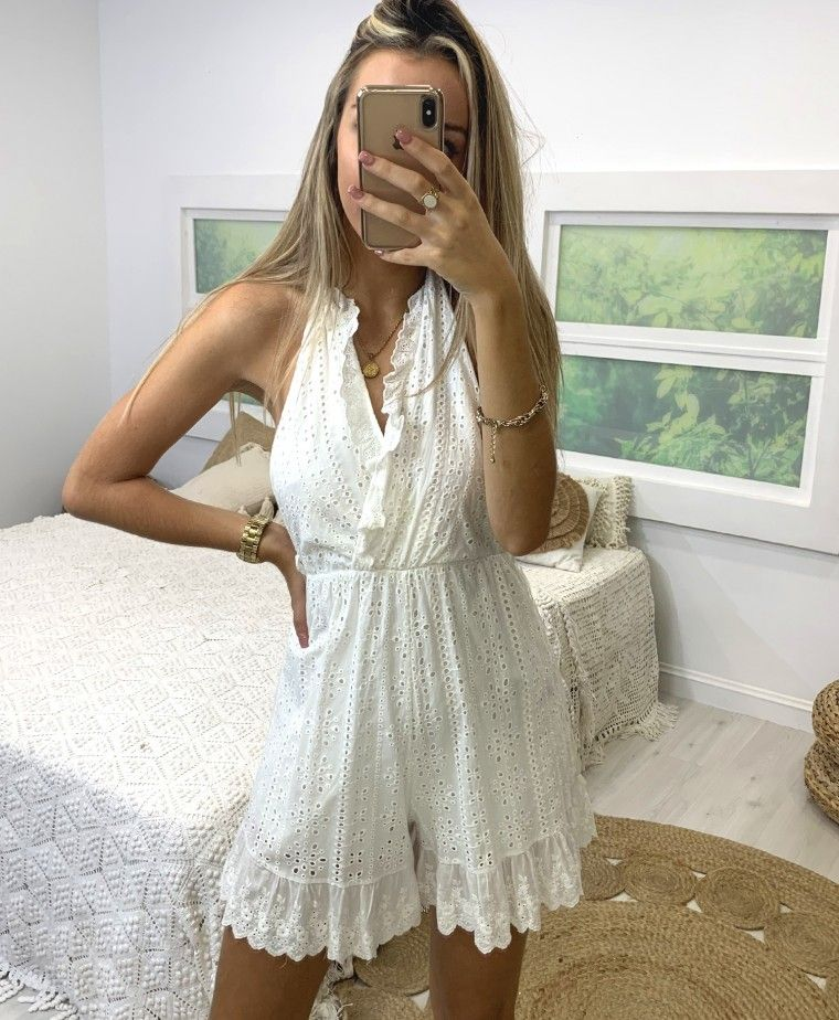 TROPICAL WHITE OVERALL